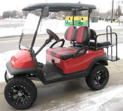 New 2012 Club Car 48V Red Precedent Lifted Electric Golf Cart For Sale ATVs  For Sale in Illinois on atvtrades com