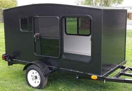 Honda 4 Wheeler For Sale >> New 2015 Gsi WonaDayGo 4' x 8' Black Enclosed Camper Trailer ATVs For Sale in Illinois on ATV Trades