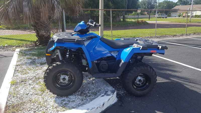 new 2016 polaris sportsman 450 h o velocity blue atvs for sale in illinois on atv trades. Black Bedroom Furniture Sets. Home Design Ideas