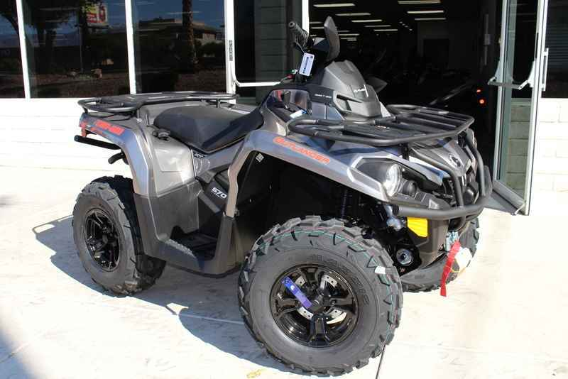 New 2017 Can Am Outlander Xt 570 Pure Magnesium Metallic Atvs For In Nevada 8 749