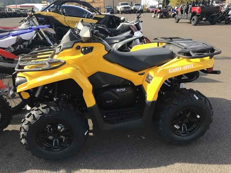 New 2017 Can Am Outlander Xt 570 Yellow Atvs For In Oregon 8 349