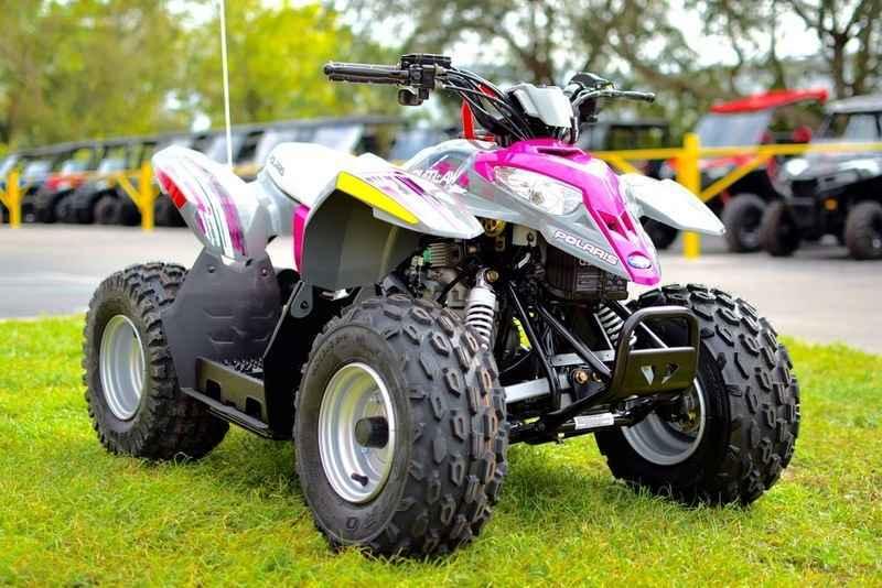 Polaris Outlaw 50 >> New 2017 Polaris Outlaw 50 Pink Power Atvs For Sale In Florida On Atvtrades Com