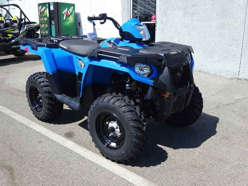 new 2017 polaris sportsman 450 h o velocity blue atvs for sale in california on atv trades. Black Bedroom Furniture Sets. Home Design Ideas