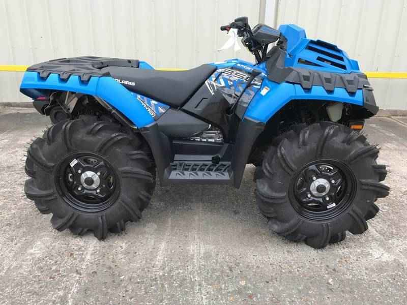 new 2017 polaris sportsman 850 high lifter edition velocity blue atvs for sale in texas on atv. Black Bedroom Furniture Sets. Home Design Ideas