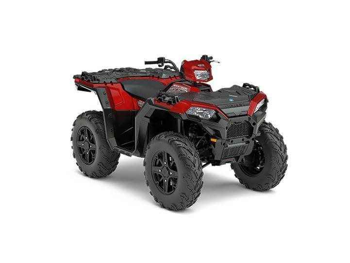 New 2017 Polaris Sportsman 850 SP Matte Sunset Red ATVs