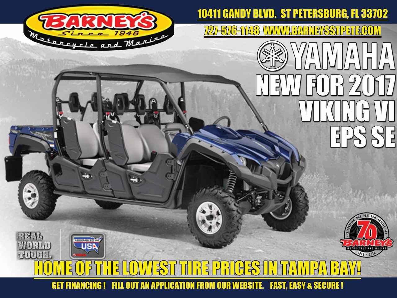 New 2017 Yamaha VIKING VI EPS SE ATVs For Sale in Florida on atvtrades com