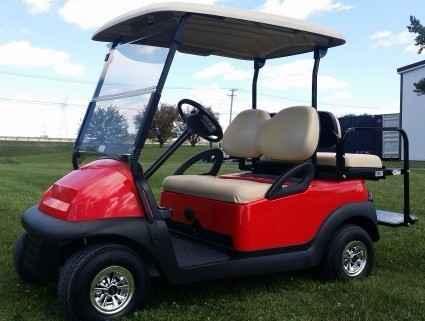 Used 2011 Club Car With Rear Flip Seat 48V Cherry Red Electric Club ...