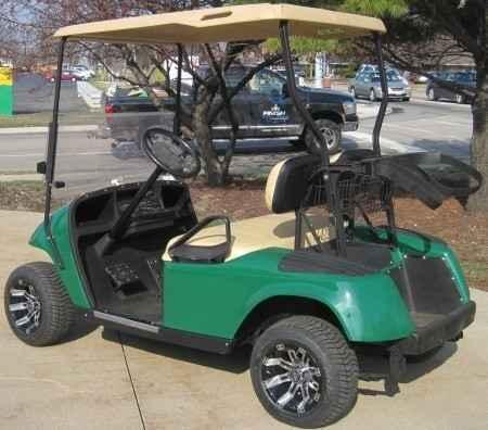 Used 2012 Gsi Green EZ-GO 36v Electric Golf Cart w/ Custom Rims & Ti ATVs  For Sale in Illinois on atvtrades com