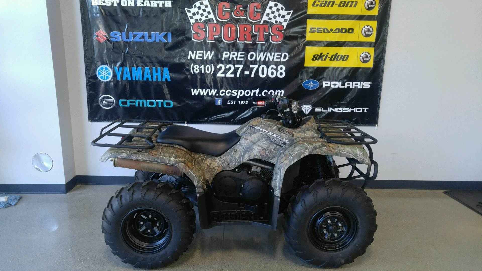 Used 2014 Yamaha Motor Corp Usa Grizzly 350 Auto 4x4 ATVs For